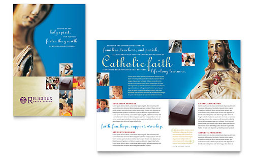 Catholic Parish and School Brochure Template Design