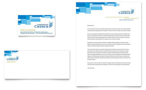 Community Church - Business Card & Letterhead Template