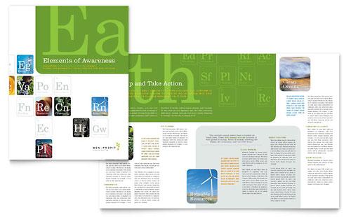 Environmental & Agricultural Non Profit Brochure Template