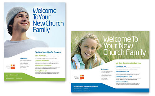 Church Youth Ministry Poster Template