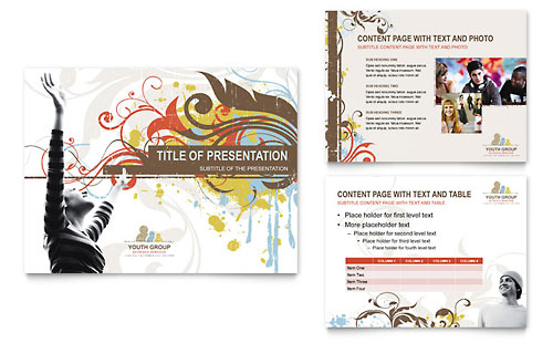 Church Youth Group PowerPoint Presentation Template
