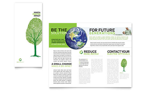 Environmental Non Profit Tri Fold Brochure Template