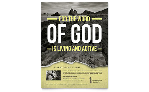 Bible Church Flyer Template