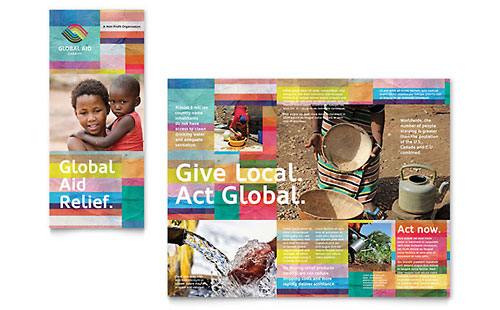 Humanitarian Aid Organization - Graphic Design Brochure Template