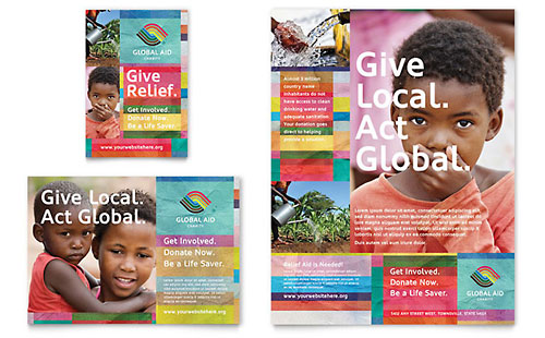 Humanitarian Aid Organization Flyer & Ad Template