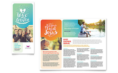 Church - Microsoft Publisher Brochure Template