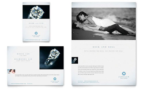 Jeweler Jewelry Store Flyer Ad Template Design