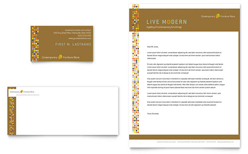 Furniture Store Business Card & Letterhead Template