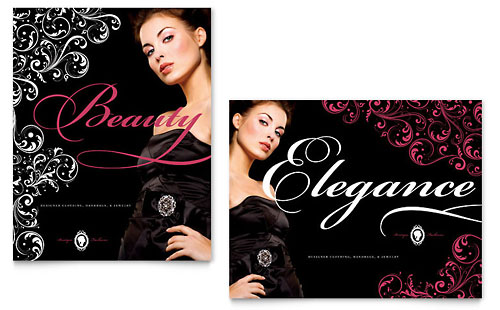 Formal Fashions & Jewelry Boutique Poster Template