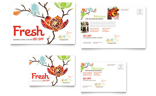 Flower Shop - Postcard Template