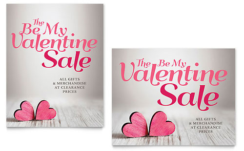 Valentine - Sale Poster Template