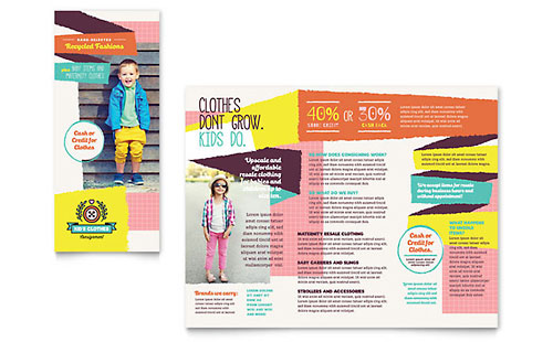 Kids Consignment Shop Brochure Template
