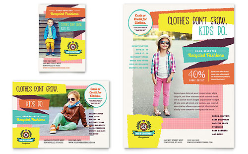 Kids Consignment Shop Flyer & Ad Template