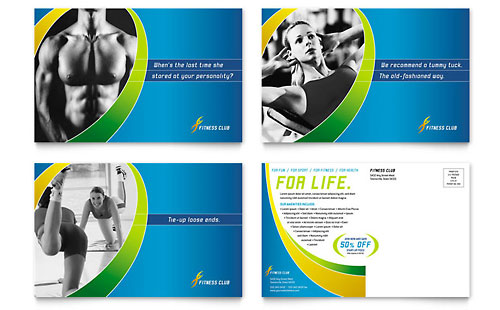 Sports & Health Club Postcard Template