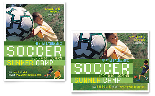 Soccer Sports Camp Poster Template