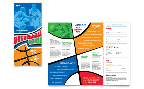 Sports Fitness Templates Brochures Flyers Postcards – Sports Flyers Templates Free