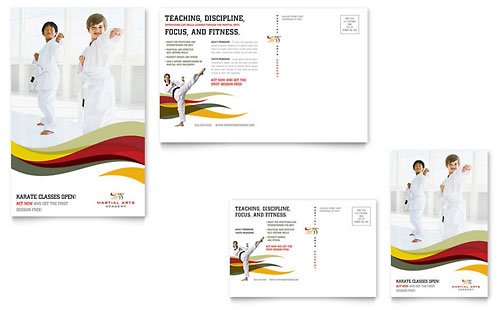 Karate & Martial Arts Postcard Template