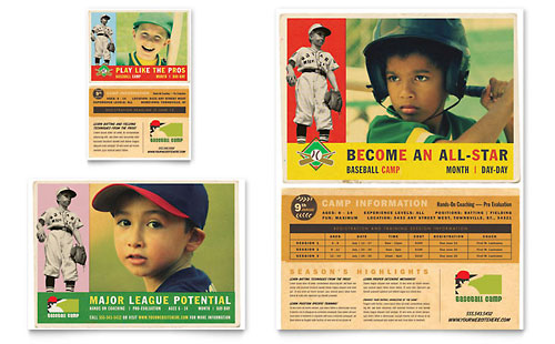 Baseball Sports Camp Flyer & Ad Template