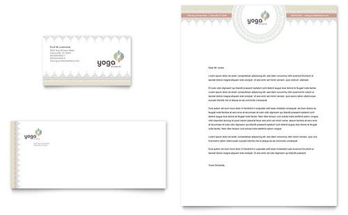 Pilates & Yoga Business Card & Letterhead Template