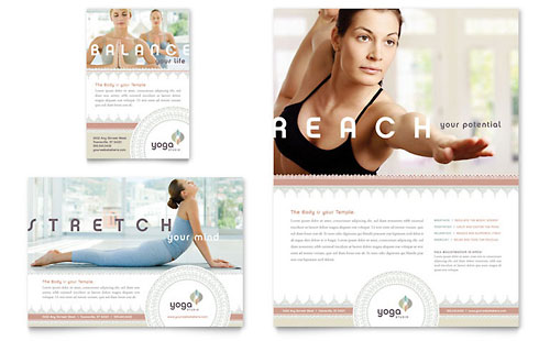 Pilates & Yoga Flyer & Ad Template