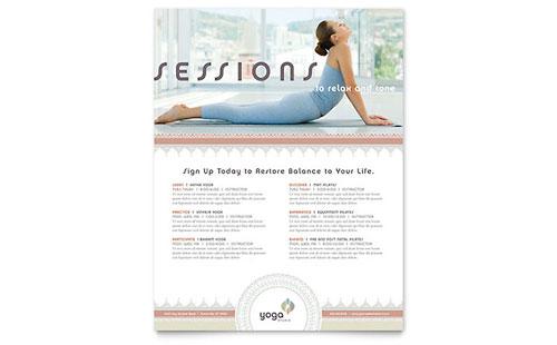 Pilates & Yoga Class Flyer Template