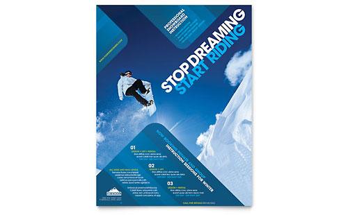 Ski resort leaflet templates travel tourism for Ski designhotel