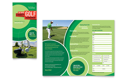 Free brochure templates sample brochures examples for Golf tournament program template