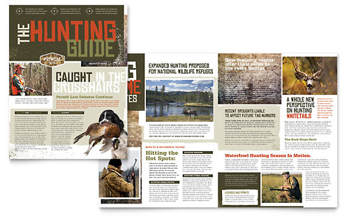 Hunting Guide Newsletter Template