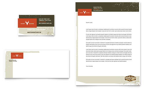 Hunting Guide - Business Card & Letterhead Template