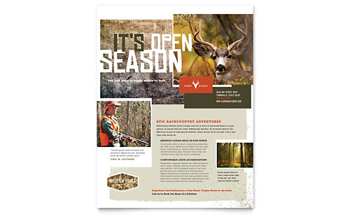 Hunting Guide Flyer Template