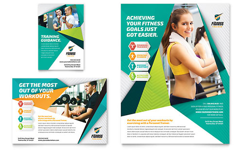 Fitness Trainer Flyer & Ad Template