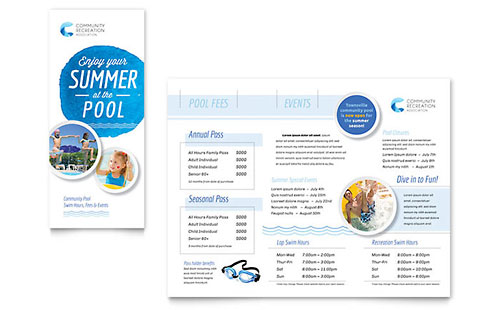 Community Swimming Pool Brochure Template