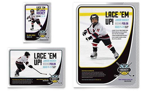 Junior Hockey Camp Flyer & Ad Template