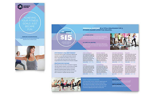 Aerobics Center - Brochure Template