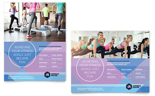 Aerobics Center - Poster Sample Template