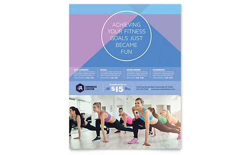 Aerobics Center - Flyer Template