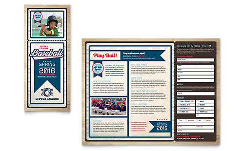 Baseball League Brochure Template