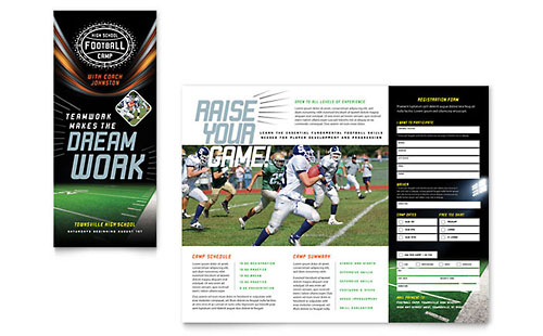 Football Training InDesign Brochure Template