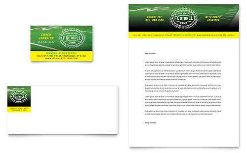 Football Training Letterhead Template