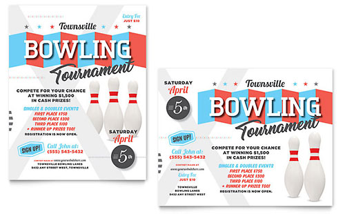 Bowling - Sample Poster Template