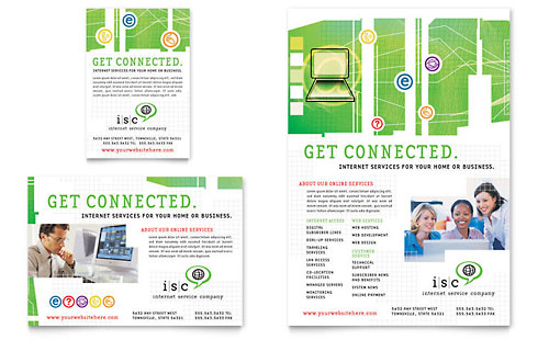 ISP Internet Service Flyer & Ad Template