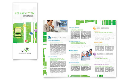 ISP Internet Service Tri Fold Brochure Template