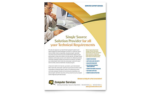 Computer Services & Consulting Flyer Template