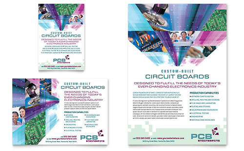 High-Tech Manufacturing Flyer & Ad Template