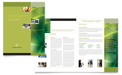 library brochure templates - technology brochures templates designs