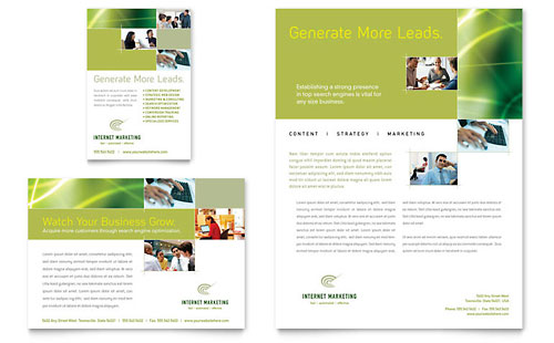 Internet marketing print ad sample template for Marketing brochure templates free