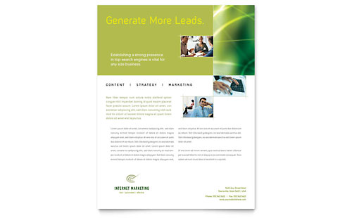 Internet Marketing Flyer Template