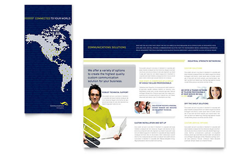 Global Communications Company Brochure Template