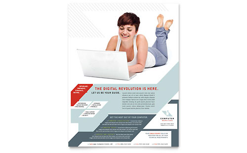 Computer Solutions Flyer Template