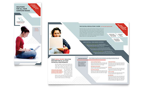 Technology templates brochures flyers newsletters for Technology brochure templates